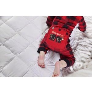 Baby Bear Cheeks Buffalo Check Pajamas Union Suit
